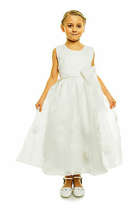 New Ivory Christening Party Pageant Flower Girl Dress 7-8 Years