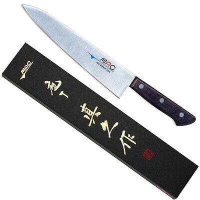 "MAC HB-85 - Chef Series 8½"" Chef's Knife/Silver Molybdenum steel/Made Japan/Box"