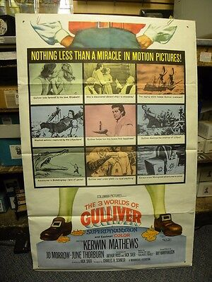 The 3 Worlds Of Gulliver-Original Us One Sheet Movie Poster