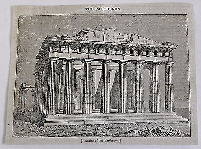 1832 magazine engraving ~ Remains of the PARTHENON, Greece