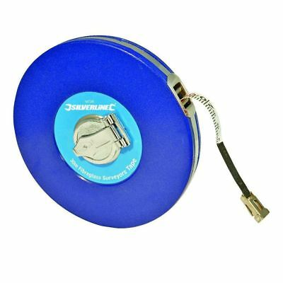 Silverline Fibreglass Surveyors Tape: 30m MT38