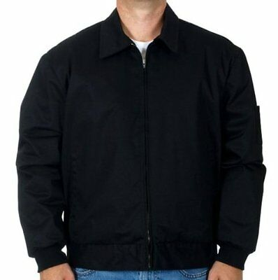 Mens Work Jacket Mechanic Style Zip Jacket Black JH Work Brand New SALE ALL M-3X