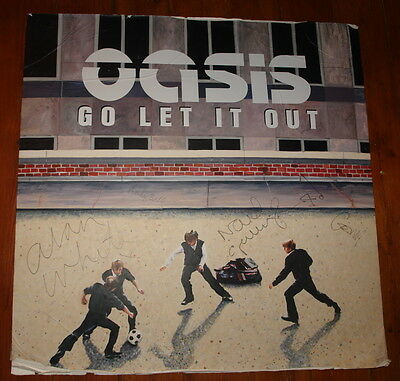 Oasis Go Let It Out Original Painting Cover Art First Working Draft Signed By 4