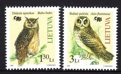 Lithuania 2004 Owls Set 2 MNH