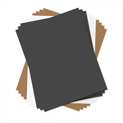 """Sizzix Paper Leather Sheets  8 1/2"""" x 11"""" Assorted Basics 10 Pack  661149"""