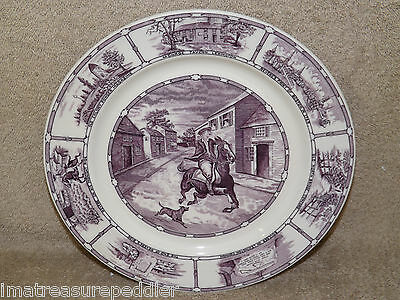 Paul Revere Purple Mulberry Transfer Plate - Bailey Walker China