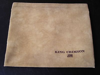 King Crimson-RARE 1970's PROMO Suede Briefcase/Pouch-UNUSED-Robert Fripp!