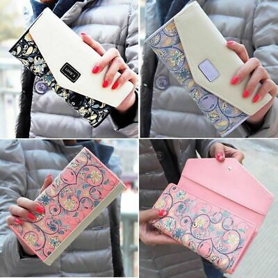Women Long Envelope Leather Wallet Card Clutch Purse Handbag Mobile Holder Bag