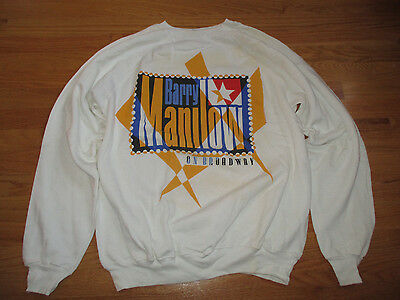 "Vintage 1989 BARRY MANILOW ""On BROADWAY"" Concert Tour (2XL) Sweatshirt"