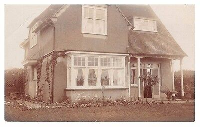 Unknown detached house - chalet-style - old real photo postcard