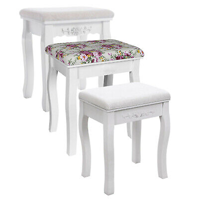 Songmics Vintage Padded Dressing Table Stool Piano Chair Makeup Seat Baroque RDS
