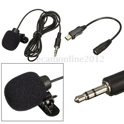 External Microphone Clip On Mic Cable Adapter for GoPro Hero 3 3+ 4 Accessories