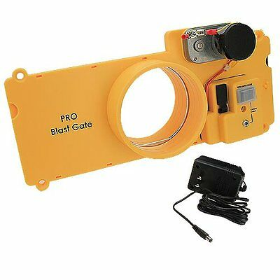 iVAC PBG04 Pro Electrically Driven Blast Gate. Automated Dust Control
