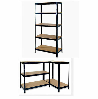 5 Tier Heavy Duty Boltless Metal Shelving Shelves Storage Unit Garage Home 1.5M
