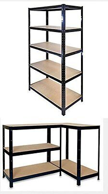5 Tier Heavy Duty Boltless Metal Shelving Shelves Storage Shelf Garage Home 1.5M