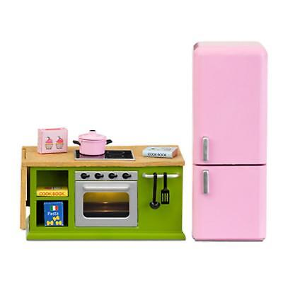 Lundby Smaland 1:18 Scale Dolls House Kitchen Furniture Cooker Oven Fridge Set