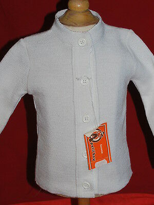 gilet blanc vintage années 70 made in france t 18 mois NEUF