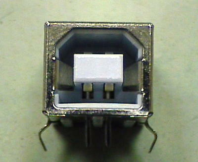 NEW! USB 2.0 Type B Female Socket Right Angle PCB Thru-Hole Mount Connector