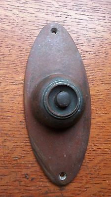 Antique Craftsman Victorian Brass & Bakelite Doorbell Button c1940