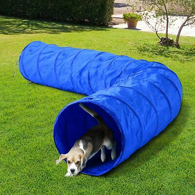 -PawHut 16.4ft Dog Tunnel Pet Agility Exercise Training 300D High Quality Oxford