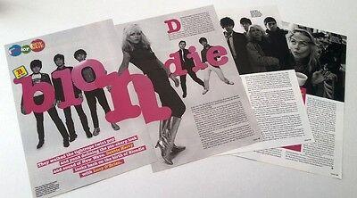 BLONDIE Debbie Harry 'B for Blondie' 6 page UK ARTICLE / clipping
