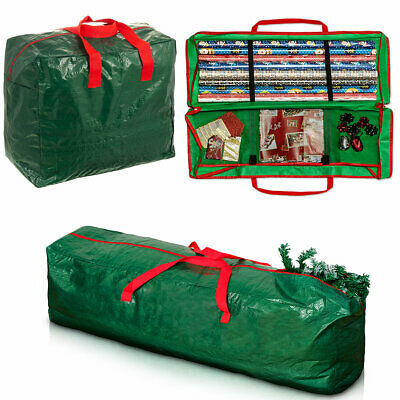 Storage Bag For Christmas Xmas Tree Or Decoration Lights Zip Up Sack 7Ft Trees
