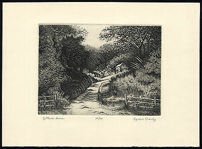 Antique Print-JETHRO'S HOUSE-FOREST-LANDSCAPE-Crowley-ca. 1985