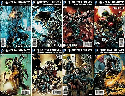 MORTAL KOMBAT X Blood Ties (8) Comic Run #1 2 3 4 5 6 7 8 Sub Zero set 1st print