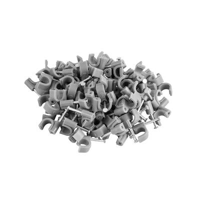 Titan AV Cable Management Clip 7mm Grey With Steel Nail - 100pcs