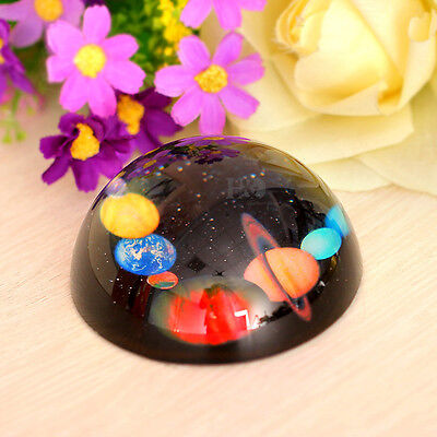 Vintage Planets of Solar System Ball Paperweight Half Sphere Wedding Decor