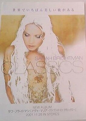 Sarah Brightman Classics 2001 2-sided Japanese Flyer / mini Poster 11x8""