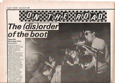 SPECIALS  Newcastle 1980 concert review UK ARTICLE / clipping