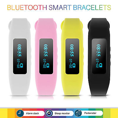 Pedometer Watch Bluetooth 4.0 Bracelet Walk Run Calories Counter Sport Tracker