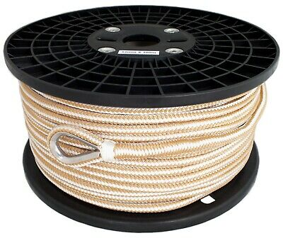 12mm x 100M Double Braid Nylon Anchor Rope, Super Strong, Great for Drum Winches