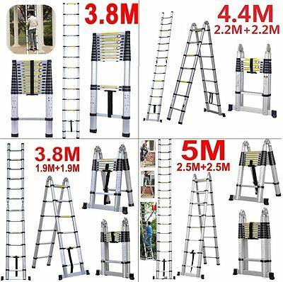 3.8M 4.4M 5M Bentley Diy Telescopic Folding Extendable Extension Ladder En131