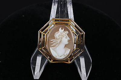 Antique Cameo Gold Plated Brooch Fashion 7379
