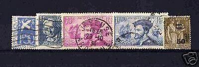 France Stamp Annee Complete 1934 : Yvert 294 / 298 , 5 Timbres Obliteres Tb