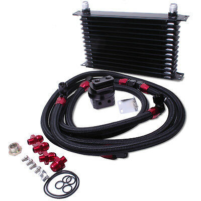 Direnza Universal Drift Black Edition 13 Row 42Mm Oil Cooler & Relocation Kit