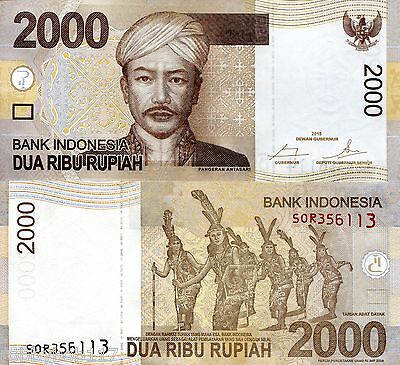 INDONESIA 2000 Rupiah Banknote World Money UNC Currency Bill Pick p-148g Bill