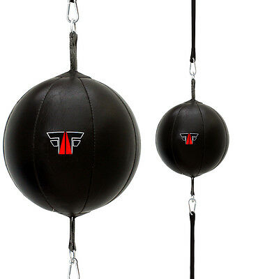 FOX-FIGHT Doppelendball Speedball Boxbirne Schlagbirne Leder Punchingball
