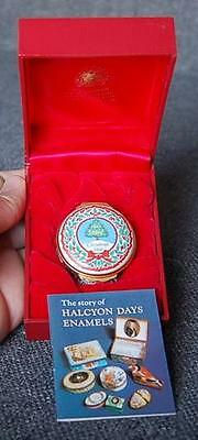 "Lovely Halcyon Days Enamels ""christmas 1988"" Trinket Box With Original Box"