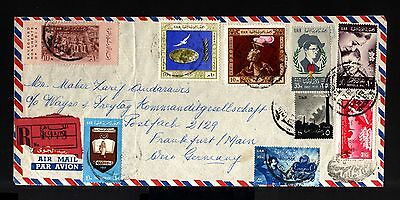 6978-EGYPT-AIRMAIL REGISTERED COVER HELIOPOLIS to FRANKFURT (germany)1962.U.A.R.
