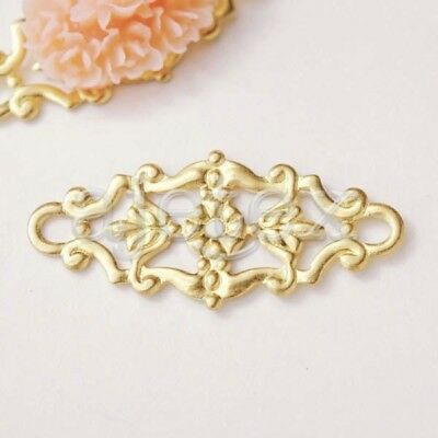 20pcs fashion Raw brass links Cabochon Filigree MB0563