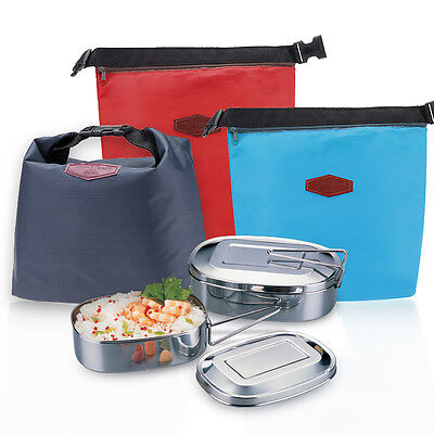 Thermal Cooler Waterproof Insulated Portable Tote Picnic Lunch Bag Storage Pouch
