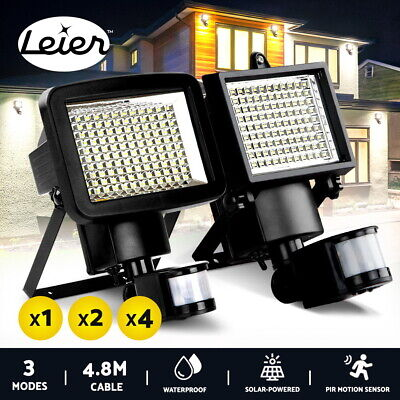 60 100 120 LED Solar Sensor Light Motion Detection Security Garden Wall Lights