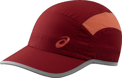 Asics Essential Running Training Sports Breathable Cap Lightweight Fast Dry Red