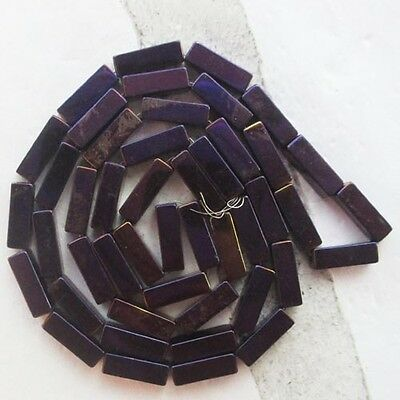 QY20051 Beautiful A Strand oblong Hematite loose bead 15.5inch