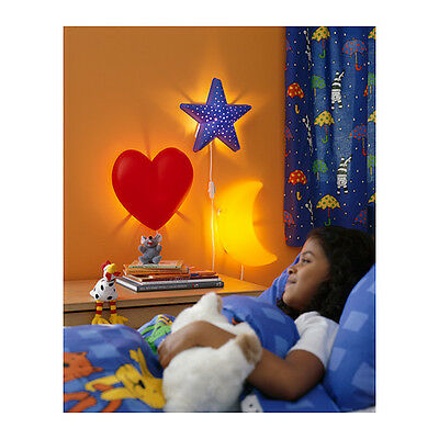Ikea Childrens SMILA Wall Lights Choice of Bug Flower Heart Moon Star NEW