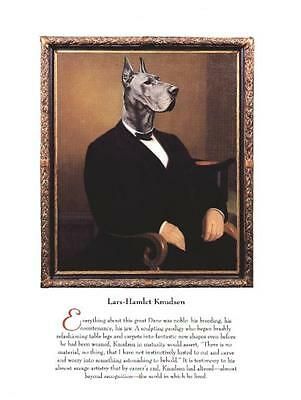 Great Dane Blue - Vintage Dog Art Print - Poncelet