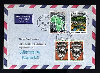 6996-CAMEROON-AIRMAIL COVER BAFOUSSAM to ALFTER (germany)1974.FRENCH Colonies.